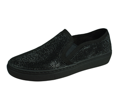 Skechers Goldie Flashow Womens Slip On Shoes - Black