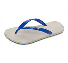 Ipanema Flag II Mens Flip Flops / Sandals - Beige and Blue