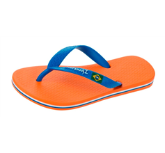 Ipanema Rio II Kids Beach Flip Flops / Sandals - Orange and Blue