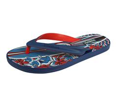 Ipanema Surf Temus Mens Beach Flip Flops / Sandals - Blue and Red
