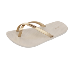 Ipanema Mix Kids Girls Flip Flops / Sandals - Beige and Gold