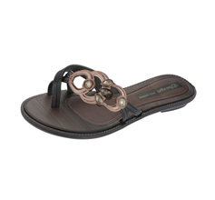 Grendha Magia Thong Womens Flip Flops / Sandals - Black