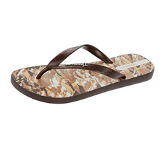 Ipanema Camo Mens Beach Flip Flops / Sandals - Brown