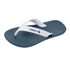 Rider Strike Mens Flip Flops / Sandals - White and Navy
