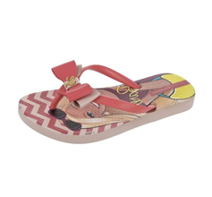 Ipanema Love Girls Beach Flip Flops / Sandals - Pink and Coral