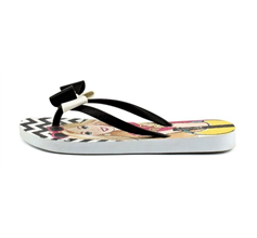 Ipanema Love Girls Beach Flip Flops / Sandals - White and Black