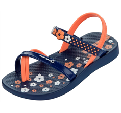 Ipanema Fleur Baby Flip Flops / Infant Sandals - Blue and Orange
