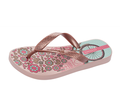 Ipanema Paris Girls Beach Flip Flops / Sandals - Blush and Rose Gold