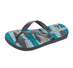 Ipanema Shark Kids Beach Flip Flops / Sandals - Grey