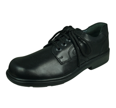 Start Rite Isaac Boys Leather School Shoes Lace Up - Black