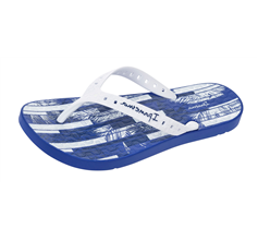 Ipanema Arpoador Mens Beach Flip Flops / Sandals - Blue and White
