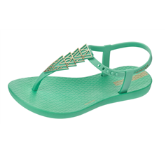 Ipanema Charm II Girls Flip Flops / Sandals -  Mint
