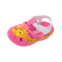 Ipanema Baby Summer Zoo Giraffe Sandals Infant Girl Flip Flops - Pink