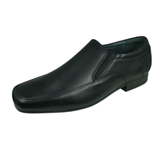 Rhino by Start Rite Tyler Boys Leather School Shoes Slip on - Black
