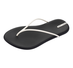 Ipanema Starck Ting Thong Womens Flip Flops / Sandals - White and Black