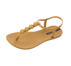 Ipanema Charm Sandal 21 Womens Beach Flip Flops / Sandals - Amber Pebble