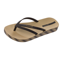 Ipanema Bossa Soft 21 Womens Beach Flip Flops / Sandals - Coffee
