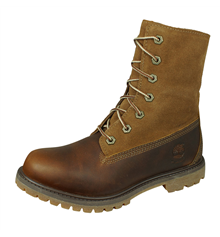 Timberland Teddy Fleece Fold Down Womens Leather Boots - Brown