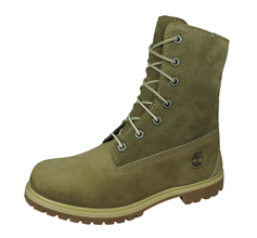 Timberland Teddy Fleece Fold Down Womens Leather Boots - Taupe