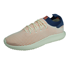 adidas Originals Tubular Shadow Primeknit Mens Trainers - Orange and White