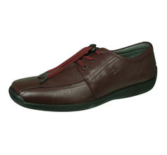 Sledgers Alberto Mens Lace-up Leather Shoes - Wine