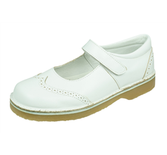 Angela Brown Alex Toddler Girls Leather Mary Jane School Shoes - White