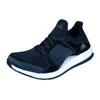 Womens adidas Running Trainers Pure Boost X TR Training Shoes - Black and Dark Grey