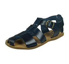 Angela Brown Archie Girls Leather Sandals - Navy Blue
