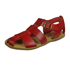 Angela Brown Archie Girls Leather Sandals - Red