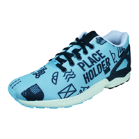 adidas Originals ZX Flux Placeholder Graphic Pack Mens Trainers - Blue
