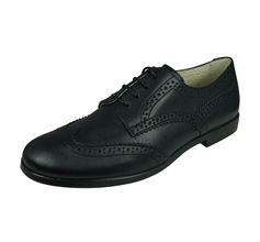 Angela Brown Bailey Kids Leather Brogue / Lace up Shoes - Black