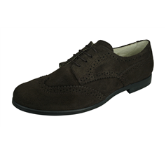 Angela Brown Bailey Kids Suede Leather Brogue / Lace up Shoes - Brown