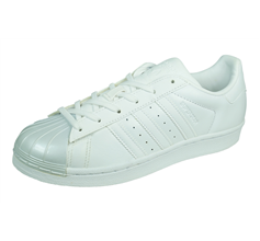 adidas Originals Superstar Glossy Toe Womens Leather Trainers - White