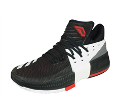 adidas D Lillard 3 Mens Basketball Trainers / Shoes - Black