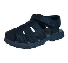 Stride Rite Hudsen Boys Leather Sandals - Black