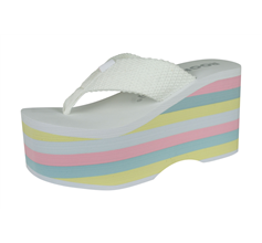 Rocket Dog Big Top Webbing Womens Flip Flops / Sandals - White