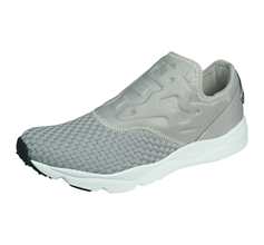 Reebok Furylite Off Slip on Womens Shoes / Trainers - Grey