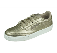 Reebok Club Classic 85 Melted Metal Womens Leather Trainers - Pearl Grey
