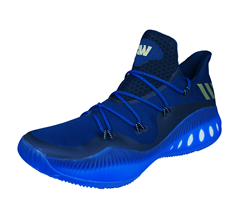 adidas Crazy Explosive Low Mens Basketball Trainers / Shoes - Blue