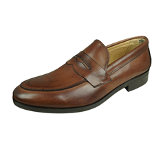 Angela Brown Carlo Mens Leather Loafers - Brown