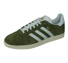 adidas Originals Gazelle Womens Suede Trainers - Khaki