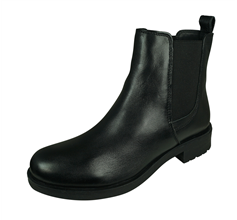 Geox D Rawelle B Womens Nappa Leather Ankle Boots - Black