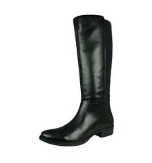 Geox D Laceyin C Womens Leather Tall Boots - Black