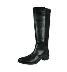 Geox D Laceyin D Womens Leather and Suede Tall Boots - Black