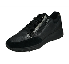 Geox D Alleniee A Womens Casual Trainers - All Black
