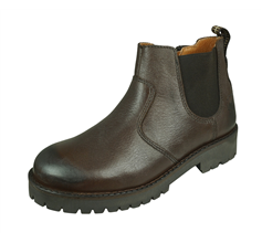 Cool Boys Eddie Leather Trekker Ankle Boots - Brown