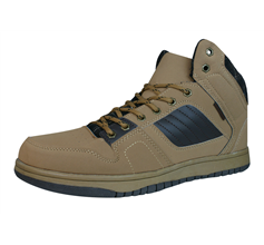 Centro Ronzo Mens Hi Top Trainers / Boots - Brown