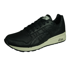 Asics GT II Mens Leather Trainers / Shoes - Black