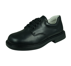 Cool Boys Hamish Leather Junior School Shoes by Angela Brown Lace Up - Black