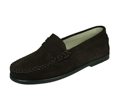Angela Brown Harvey Boys Suede Loafer / Slip on Shoes -  Brown